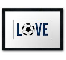 Love Soccer (blue) Framed Print