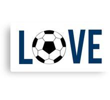 Love Soccer (blue) Canvas Print