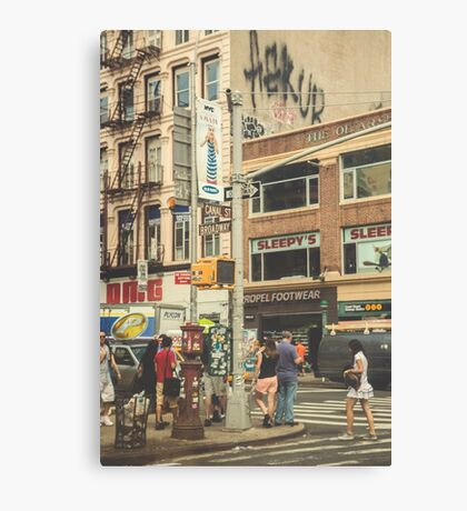 CANAL vs. BROADWAY Canvas Print