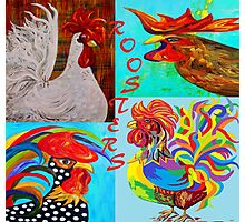 Rooster Menagerie Photographic Print