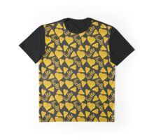 seamless pattern with gold,hand-drawn hearts and the description hello Graphic T-Shirt