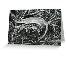 Pen and Ink Lazy Lizard, drawing Greeting Card
