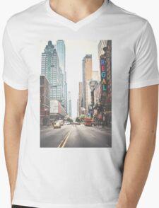 NYC Street Mens V-Neck T-Shirt