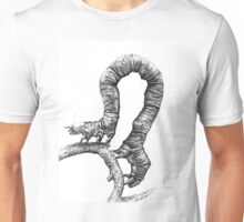 Pen and Ink Inch Worm, drawing Unisex T-Shirt