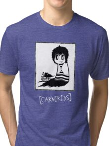 Carnikids: Corby Black and White (Dark) Tri-blend T-Shirt