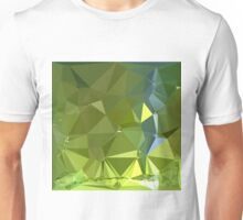 Chartreuse Green Abstract Low Polygon Background Unisex T-Shirt