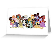 My Little Disney Princesses Greeting Card