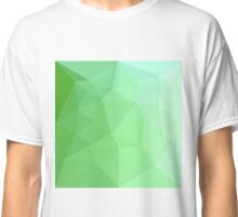 Dark Sea Green Abstract Low Polygon Background Classic T-Shirt