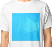 Dark Turquoise Abstract Low Polygon Background Classic T-Shirt