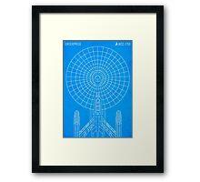 Star Trek - Faux Enterprise Blueprint Framed Print