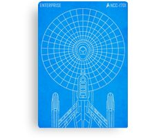 Star Trek - Faux Enterprise Blueprint Canvas Print