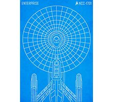 Star Trek - Faux Enterprise Blueprint Photographic Print