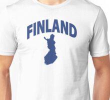 Finland flag map Unisex T-Shirt