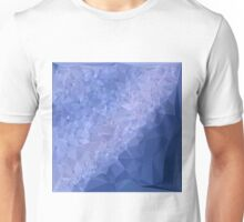 Steel Blue Abstract Low Polygon Background Unisex T-Shirt