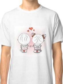 valentine's day illustration with boy and girl Classic T-Shirt