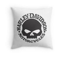 Harley Davidson Skull Throw Pillow