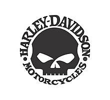 Harley Davidson Skull Photographic Print