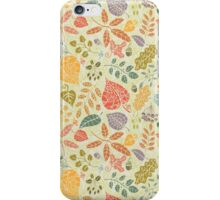 Decorative Autumn leaves seamless pattern  iPhone Case/Skin