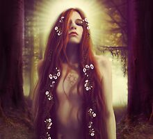 Iseult in the Sacred Forest by gingerkelly