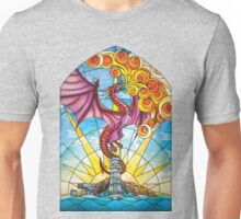 The Fey Man Stained Glass Dragon Unisex T-Shirt
