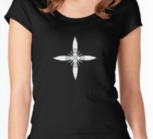 Feather Motif Women's Fitted Scoop T-Shirt