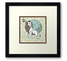 Leo zodiac sign.Vintage Horoscope Framed Print