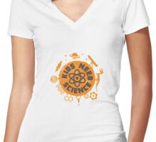 Kids Need Science Women's Fitted V-Neck T-Shirt