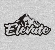 Elevate - mountains One Piece - Long Sleeve
