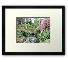 The Japanese Bridge Framed Print