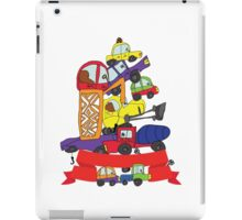 Child's hand draw cars. Funny Doodle composition iPad Case/Skin
