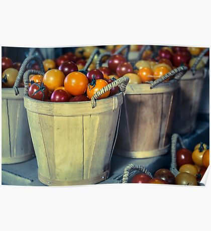 Baskets of Tomatoes Poster