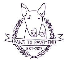 Paws To Pavement Dog Walking San Diego Purple Photographic Print