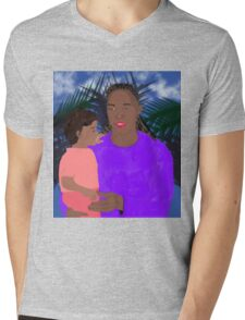 Mother and Daughter Mens V-Neck T-Shirt