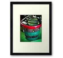 Cucumbers  Framed Print