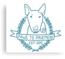 Paws To Pavement Dog Walking San Diego Blue Canvas Print