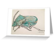 Rainbow Scarab Beetle in colour by Liz H Lovell Greeting Card