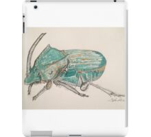 Rainbow Scarab Beetle in colour by Liz H Lovell iPad Case/Skin