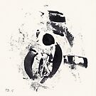 Typographical Grenades #1 - Monotype by Pascale Baud