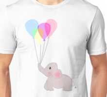 Baby Elephant With Balloons Unisex T-Shirt
