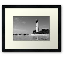 Cape Florida Lighthouse - B&W Film Framed Print