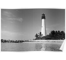 Cape Florida Lighthouse - B&W Film Poster