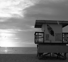 Life Guard Stand - B&W Film by njordphoto