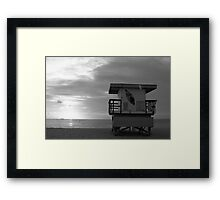 Life Guard Stand - B&W Film Framed Print