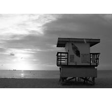 Life Guard Stand - B&W Film Photographic Print