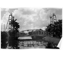 Lift Bridge over the Miami Canal Poster