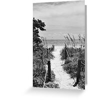 Pathway to the Sea Greeting Card
