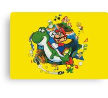 Super Mario World: Mario & Yoshi Canvas Print