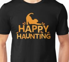 Happy Haunting with cat and candy corn Unisex T-Shirt