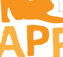 Happy Haunting with cat and candy corn Sticker