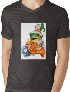 Fransiour Mens V-Neck T-Shirt